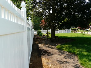 Tongue & Groove White PVC Fence