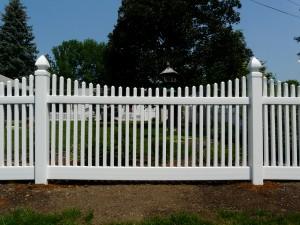 Scolloped Classic Victorian PVC Fence