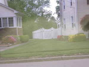 PVC Contemporary Picket fence