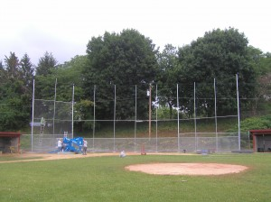 Chain Link Fence Baseball Cage