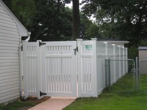 """Semi-Privacy PVC 3"""" Boards Fence"""