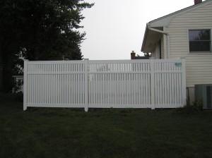 """3"""" Boards Semi-Private PVC Fence"""
