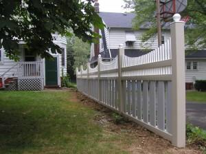 PVC Tri-Colored Fence