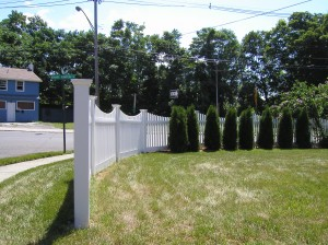 Victorian PVC Picket Fence